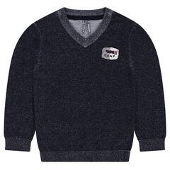Júnior - Jersey de punto con parche de insignia