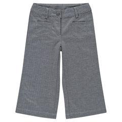 Pantalón largos 7/8 con jacquard y espigas