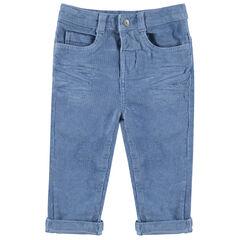 Pantalón de terciopelo de milrayas con bolsillos