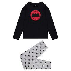 Júnior - Pijama con parche ©Warner Batman y pantalón con estrellas