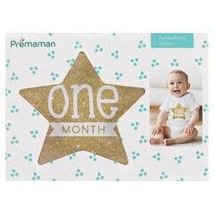 12 pegatinas con forma de estrella para cada mes