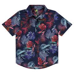 Camisa de manga corta con estampado floral