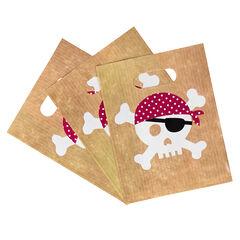 x 10 bolsas para caramelos de cumpleaños Pirata