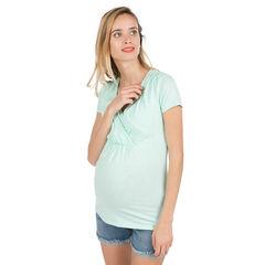 Camiseta de manga corta de premamá y lactancia