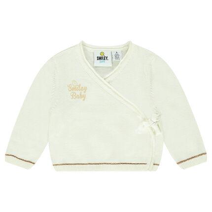 Suéter tricotado con estampado ©Smiley Baby