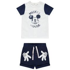 Ensemble à t-shirt print Mickey et short Disney