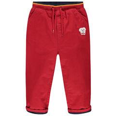 Pantalón con forro de punto y cintura elástica