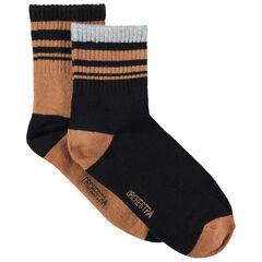 Juego de 2 pares de calcetines con rayas en contraste de jacquard