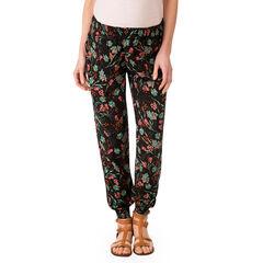 Pantalón premamá fluido con estampado floral