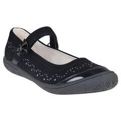 Zapatos merceditas con cinta de color negro con remaches