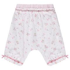 Pantalón corto de algodón vaporoso con estampado Liberty