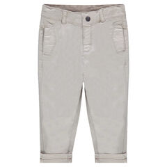 Pantalón de sarga lisa teñida