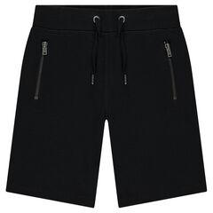 Bermudas de muletón piqué con bolsillos con cremallera