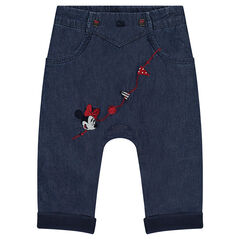 Pantalón de cambray Disney con bordados de Minnie