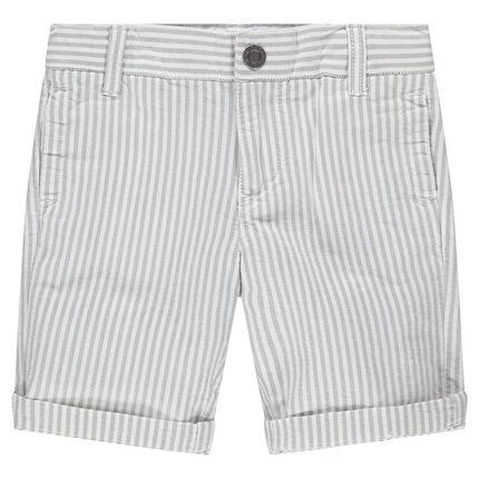 Bermudas de rayas verticales de algodón