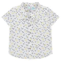 Camisa de manga corta con estampado de estrellas