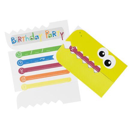 Juego de 10 tarjetas de invitación de cumpleaños Dragón