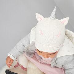 Gorro de punto de unicornio con forro de jersey