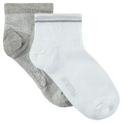 Pack de 2 pares de calcetines cortos lisos
