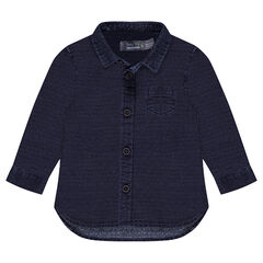 Camisa de manga larga de algodón de fantasía