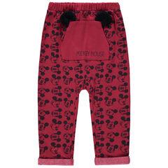 Pantalón de chándal Mickey Disney con bolsillo de canguro