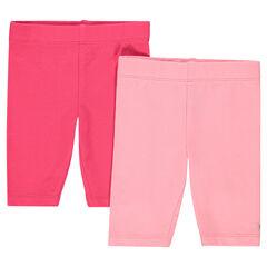 Pack de 2 pantalones corsario de un solo color