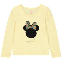 Camiseta de manga larga con dibujos de Minnie Disney de lentejuelas mágicas