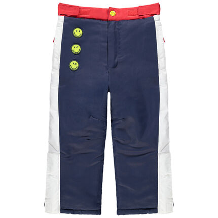 Pantalón de esquí impermeable con parches Smiley