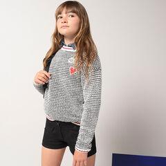 Júnior - Jersey de punto de fantasía con parches