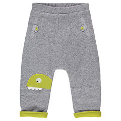 Pantalón de felpa de fantasía con parche de dinosaurio