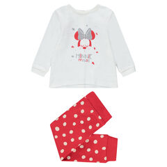 Pijama de punto con estampado de ©Disney Minnie y parte inferior con estampado de lunares