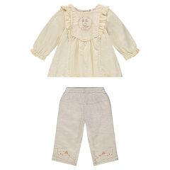 Conjunto de túnica y pantalón