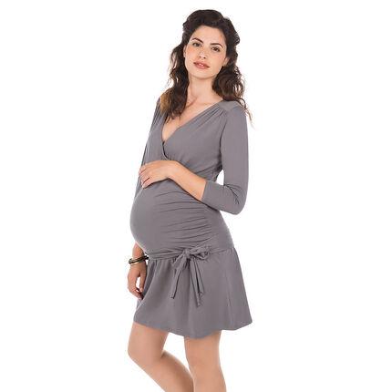 Vestido para el embarazo abertura para lactancia de color liso