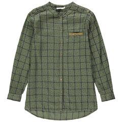 Júnior - Camisa de manga larga a cuadros con bolsillo con lentejuelas
