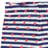 Conjunto de túnica estampada y leggings cortos de rayas