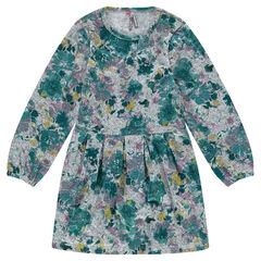 Vestido de punto de fantasía con estampado de flores