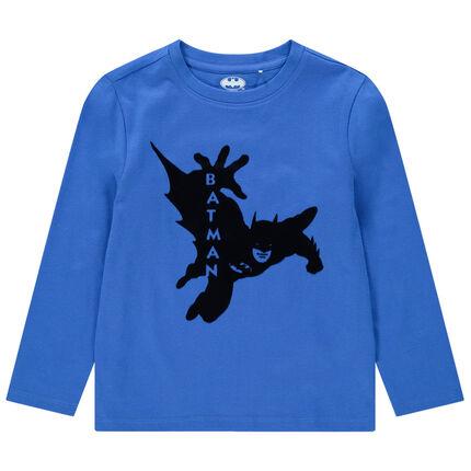 Camiseta de manga larga de algodón ecológico con estampado de Batman