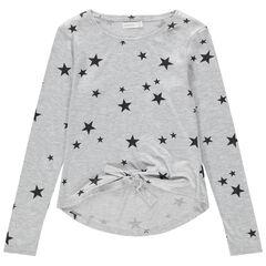 Júnior - Camiseta de manga larga de punto con estrellas estampadas