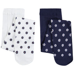 Pack de 2 medias con pequeñas flores estampadas all-over