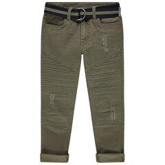 Pantalón de tela teñida con cinturón desmontable