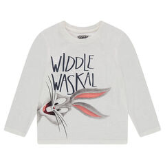 Camiseta de manga larga de punto slub con estampado de ©Warner/Looney Tunes Bugs Bunny