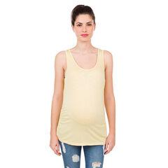 Camiseta de embarazo de slub liso