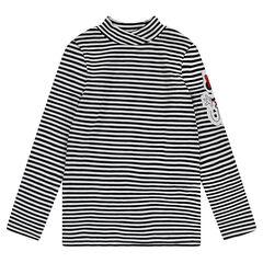 Camiseta interior de rayas all over con parche cosido de Minnie ©Disney