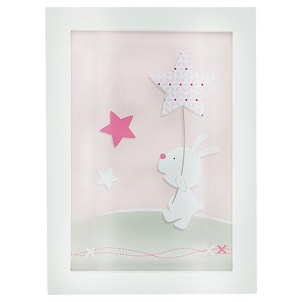 Cuadro con dibujo de conejo 30 x 22 cm