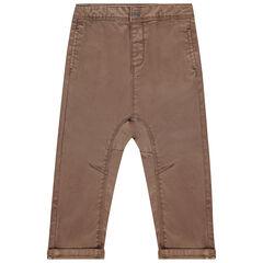 Pantalon en twill effet délavé à poches pour bébé garçon , Orchestra