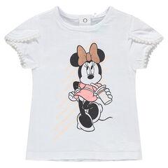 Camiseta de manga corta con estampado de Minnie de ©Disney y cintas
