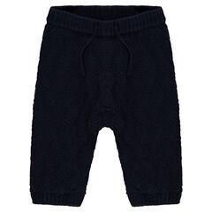 Pantalón elástico de punto con forro de jersey