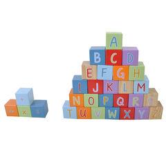Cubo alfabeto de madera 30 piezas , Prémaman
