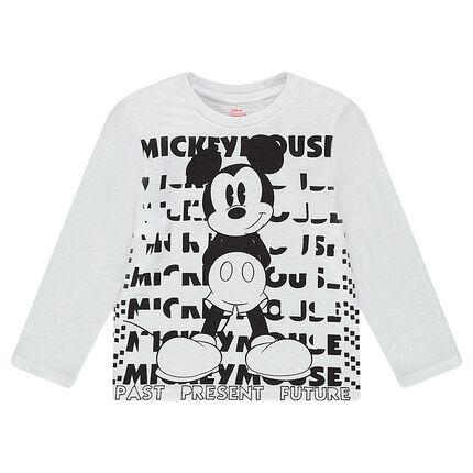 Camiseta de manga larga de punto slub con estampado de ©Disney Mickey