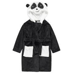Bata de casa de borreguillo con cabeza de panda